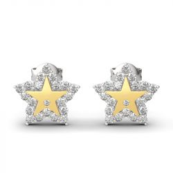Jeulia a Star Is Born Sterling Silver Engraved Earrings